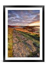 The Great Ridge, Framed Mounted Print