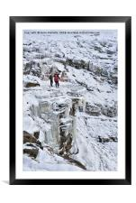 Winter Time At Kinder Downfall, Framed Mounted Print