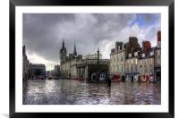 Aberdeen in the rain, Framed Mounted Print