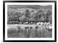 Boat Hire - B&W, Framed Mounted Print