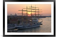 Sunrise through the Rigging, Framed Mounted Print