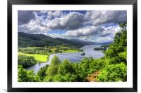 Looking over Loch Tummel, Framed Mounted Print