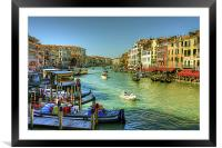 Life in Venice, Framed Mounted Print