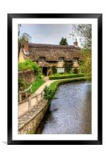The Thatched Cottage, Framed Mounted Print
