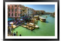 Crowded Venice, Framed Mounted Print