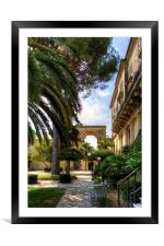 Corfu Garden, Framed Mounted Print