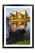 Canal side reflections, Framed Mounted Print