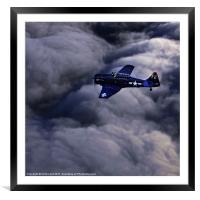 North American Aviation T-6 Texan, Framed Mounted Print