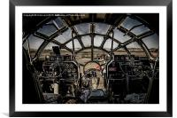 """B-29 Superfortress """"Fifi"""" - The Cockpit, Framed Mounted Print"""