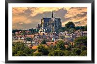 Arundel Cathedral and Village Rooftops, Framed Mounted Print