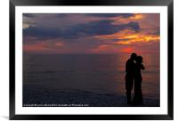 A Romantic Sunset, Framed Mounted Print