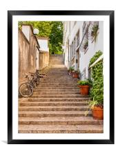 Steps and Bikes, Framed Mounted Print