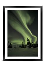 Northern Lights over the Midnight Dome, Framed Mounted Print