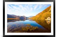 Llyn Dinas in Autumn, Framed Mounted Print