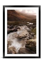 Down The Valley, Framed Mounted Print