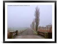 A Foggy Day., Framed Mounted Print