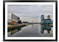 Salford Quays, Framed Mounted Print