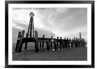 St Annes Pier in Black and White , Framed Mounted Print