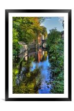 Springs branch Canal Skipton, Framed Mounted Print