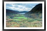 IN TO THE VALLEY , Framed Mounted Print