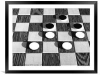 Black and White Chess, Framed Mounted Print