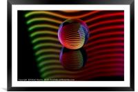 Abstract art Reflections in the crystal ball., Framed Mounted Print
