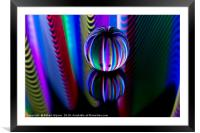 Abstract art Abstract art Floating crystal ball, Framed Mounted Print