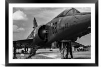 Mirage from nose starboard mono, Framed Mounted Print