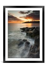 Charmouth sunset II, Framed Mounted Print