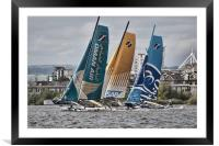 Extreme 40 Catamarans Dynamic Version, Framed Mounted Print