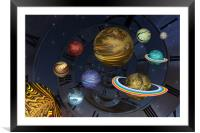 Planetary Time Spiral, Framed Mounted Print