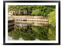 Dingy on the Wensum, Framed Mounted Print