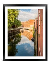 River Wensum Norwich, Framed Mounted Print