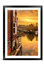 Sunset by the River, Framed Mounted Print