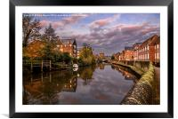 Quay Side Norwich, Framed Mounted Print