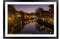 Norwich at Night, Framed Mounted Print