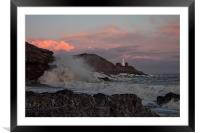Clouds, Waves and Rocks., Framed Mounted Print