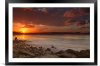Stormy Sunset, Framed Mounted Print