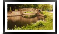 Reflections of the Bridge, Framed Mounted Print
