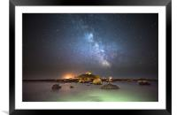 Milky Way at the Mount, Framed Mounted Print