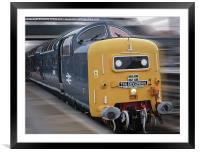 Ton- Up Napier Deltic Magic, Framed Mounted Print