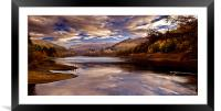 Autumn in the Valley, Framed Mounted Print