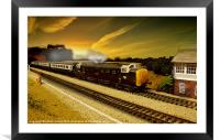 Stoke Summit Deltic, Framed Mounted Print