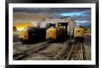 Down on the Shed, Framed Mounted Print