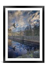 Vulcan over Howden, Framed Mounted Print