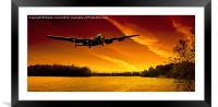 Lancaster Merlin Dawn, Framed Mounted Print