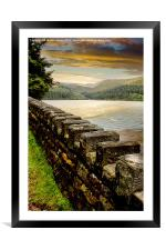 Over The Wall, Framed Mounted Print