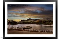Evening Boat from Keswick, Framed Mounted Print