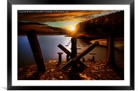 Pillars of Derwent Sunset, Framed Mounted Print
