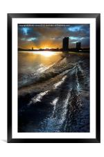 First Light on the Thames, Framed Mounted Print